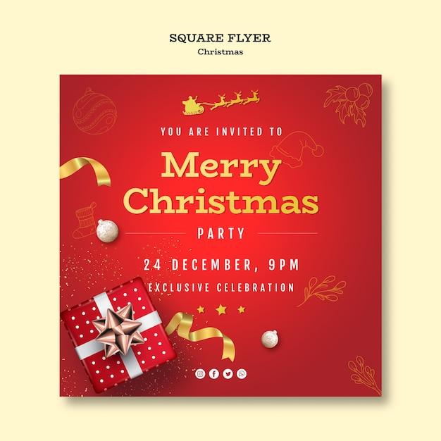 Modèle De Flyer De Fête De Noël Psd gratuit