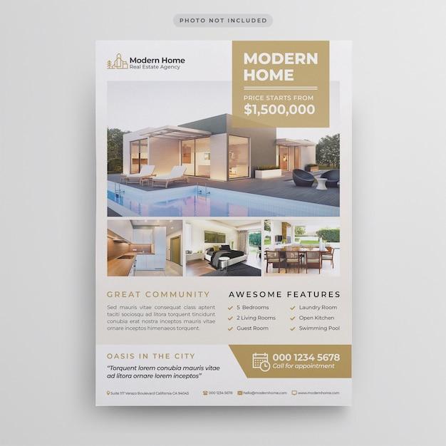 Modèle de flyer de l'immobilier PSD Premium