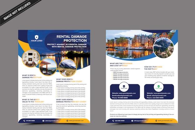 Modèle de flyer immobilier PSD Premium
