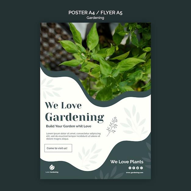 Modèle De Flyer Avec Jardinage Psd gratuit