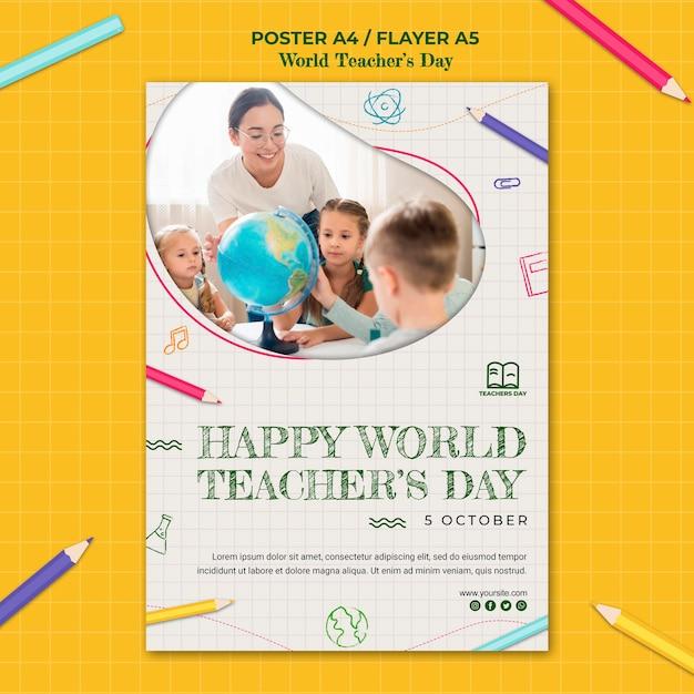 Modèle De Flyer De La Journée Des Enseignants Psd gratuit