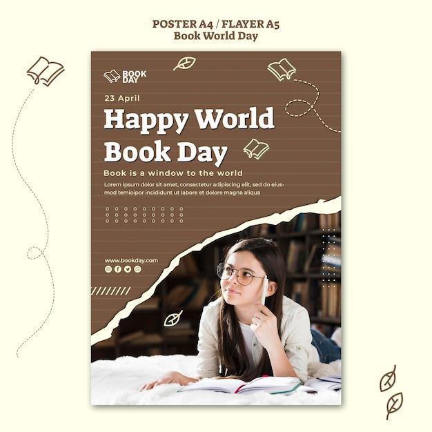 Modèle De Flyer De La Journée Mondiale Du Livre Psd gratuit