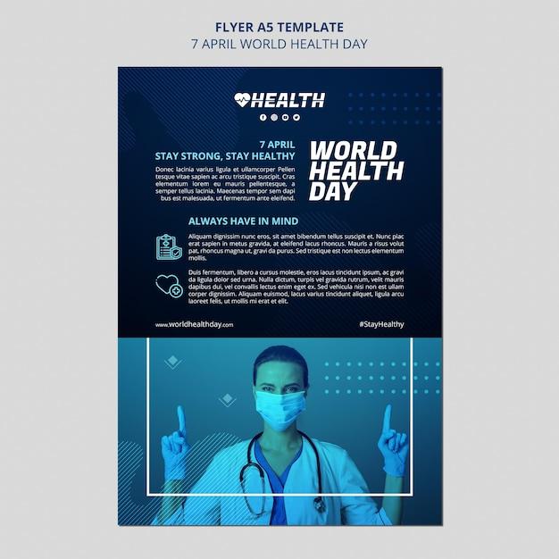 Modèle De Flyer De La Journée Mondiale De La Santé PSD Premium