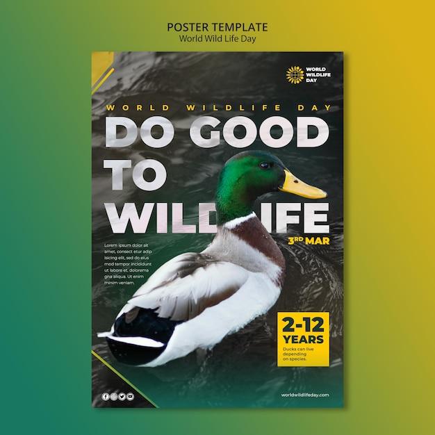 Modèle De Flyer De La Journée Mondiale De La Vie Sauvage Psd gratuit