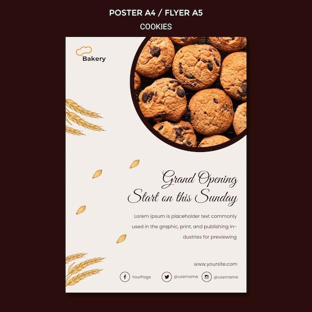 Modèle De Flyer De Magasin De Cookies Psd gratuit