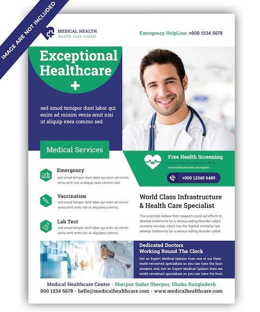 Modèle de flyer médical PSD Premium