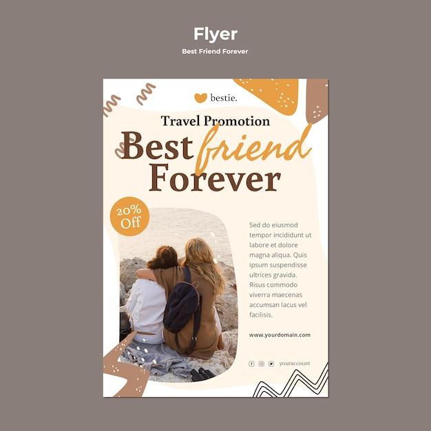 Modèle De Flyer De Meilleurs Amis Pour Toujours Psd gratuit