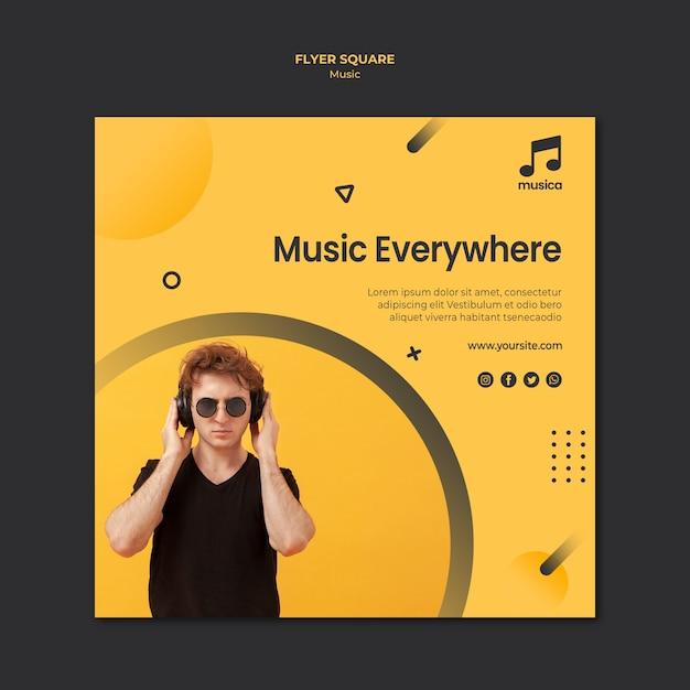 Modèle De Flyer De Musique Psd gratuit