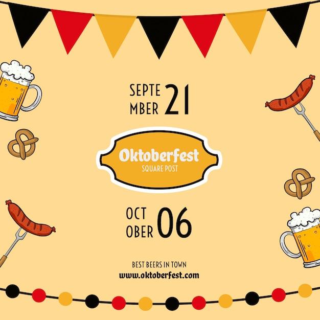 Modèle de flyer oktoberfest Psd gratuit