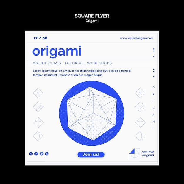 Modèle De Flyer En Origami Psd gratuit