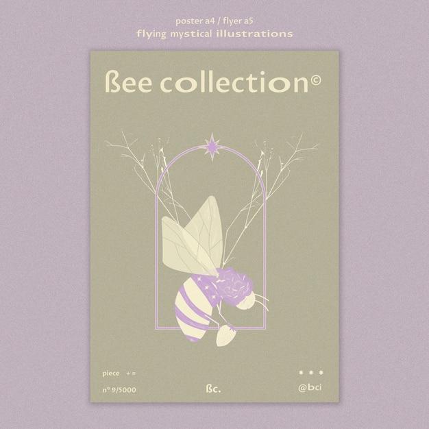 Modèle De Flyer Papillon Mystique Volant Et Branches Psd gratuit