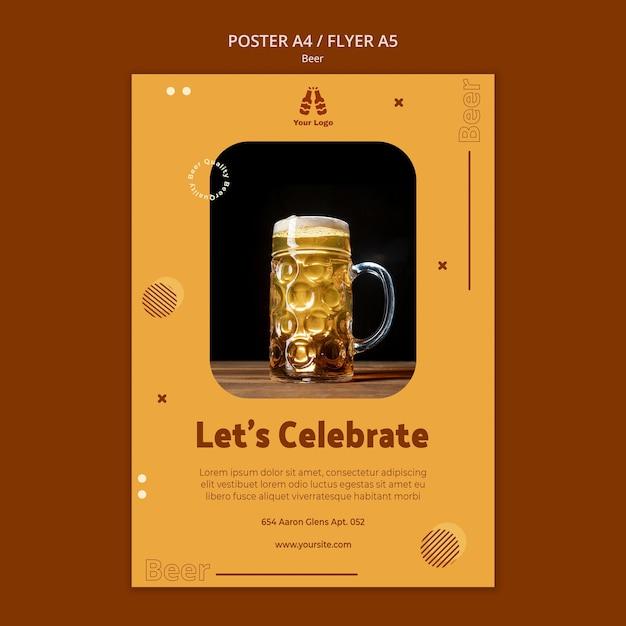 Modèle De Flyer Pour Bière Fraîche Psd gratuit