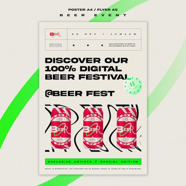 Modèle De Flyer Pour Le Festival De La Bière Psd gratuit