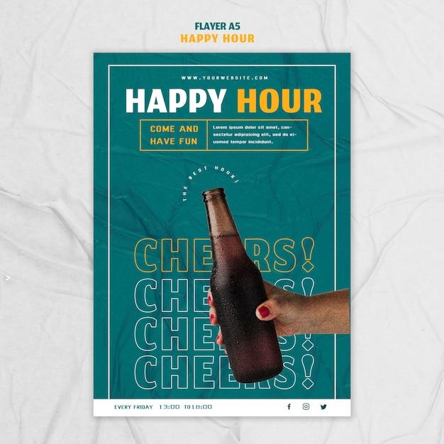Modèle De Flyer Pour Happy Hour Psd gratuit
