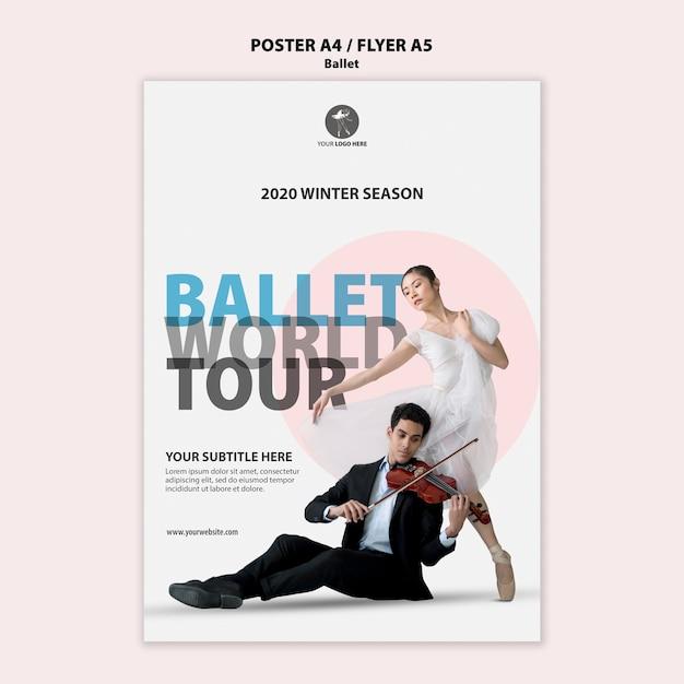 Modèle De Flyer Pour La Performance Du Ballet Psd gratuit