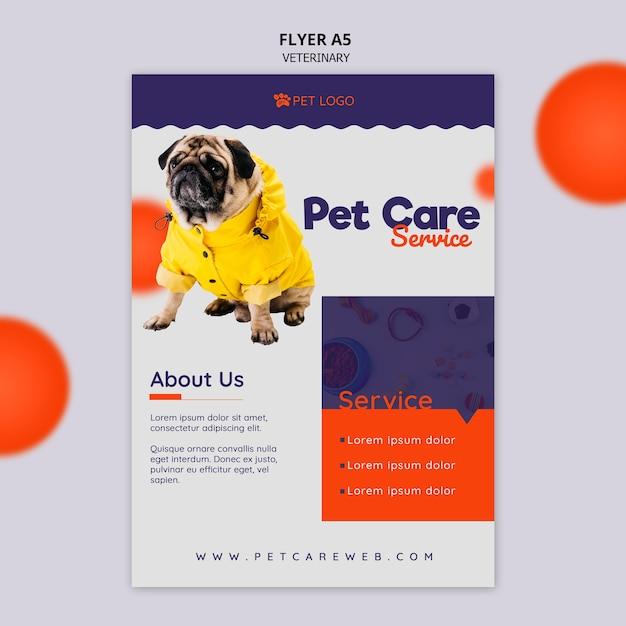 Modèle De Flyer Pour Les Soins Aux Animaux Avec Chien Psd gratuit