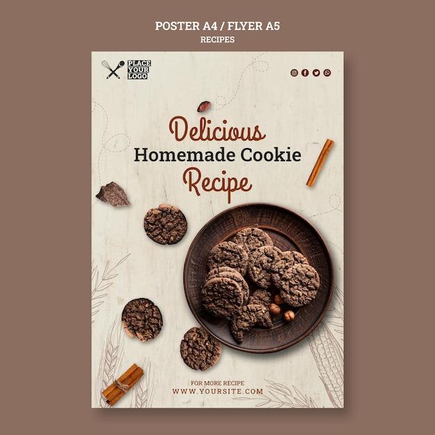 Modèle De Flyer De Recette De Délicieux Biscuits Maison Psd gratuit