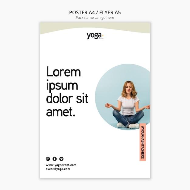 Modèle De Flyer De Remède De Classe De Yoga Psd gratuit