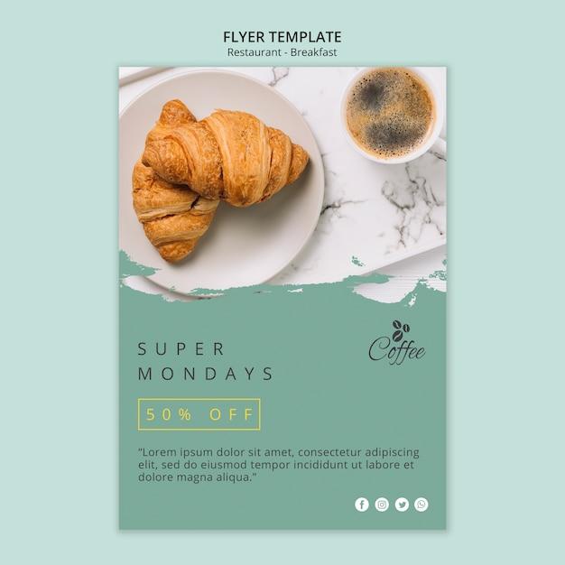 Modèle De Flyer De Restaurant De Petit Déjeuner Psd gratuit