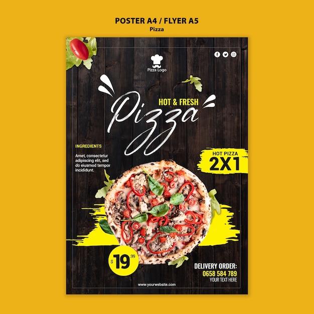 Modèle De Flyer De Restaurant De Pizza Psd gratuit