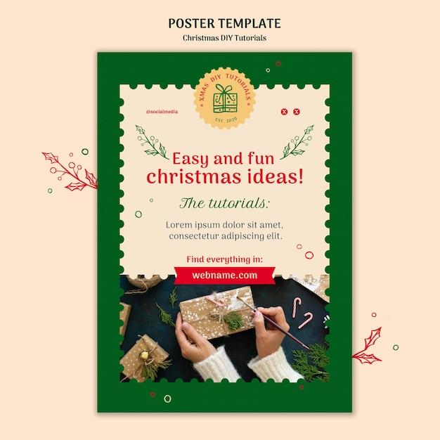 Modèle De Flyer De Tutoriel De Noël Bricolage Psd gratuit