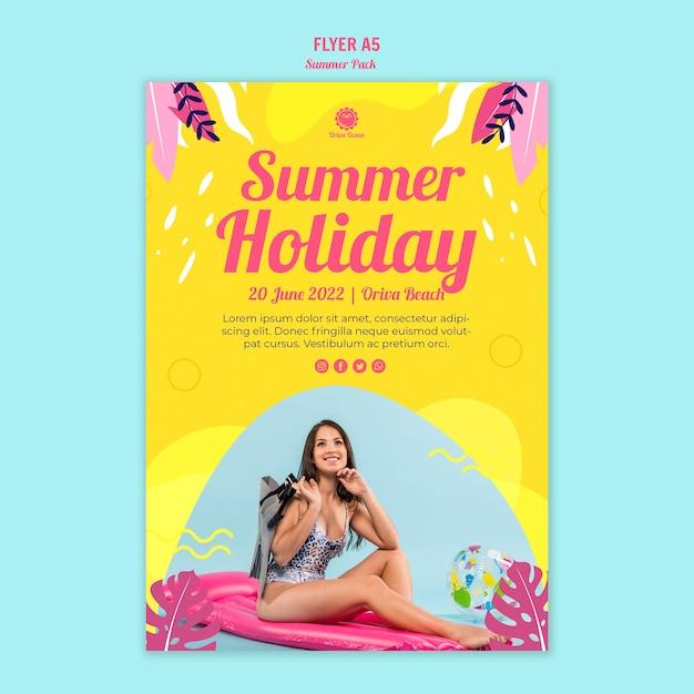 Modèle De Flyer De Vacances D'été Psd gratuit