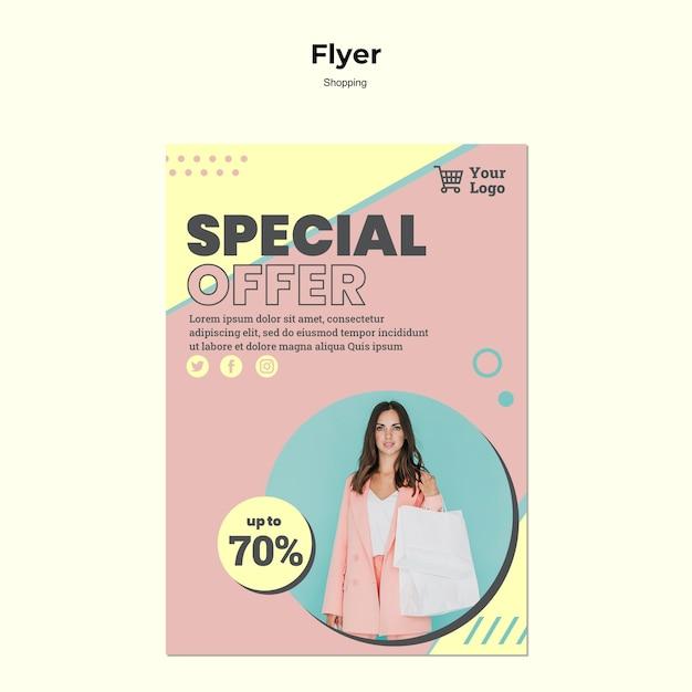 Modèle De Flyer De Vente Spéciale Shopping Psd gratuit