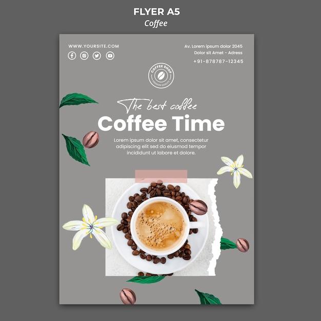 Modèle De Flyer Vertical Pour Café Psd gratuit
