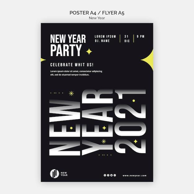 Modèle De Flyer Vertical Pour La Fête Du Nouvel An Psd gratuit