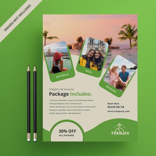 Modèle de flyer de voyage de vacances psd PSD Premium