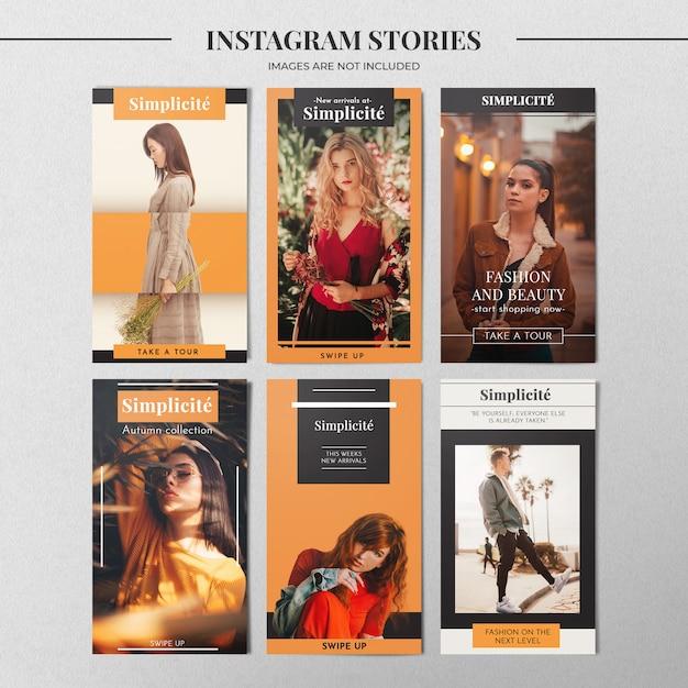 Modèle d'histoire instagram d'automne PSD Premium