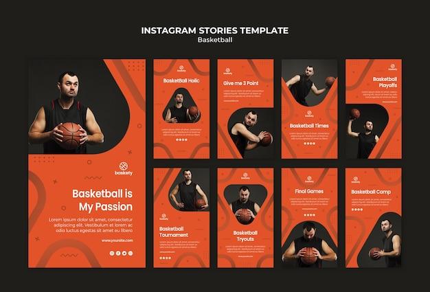 Modèle D'histoires De Basket-ball Instagram Psd gratuit