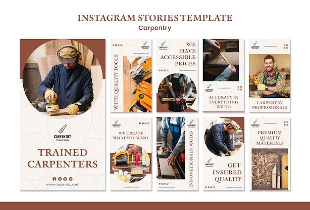 Modèle D'histoires De Concept De Menuiserie Instagram Psd gratuit