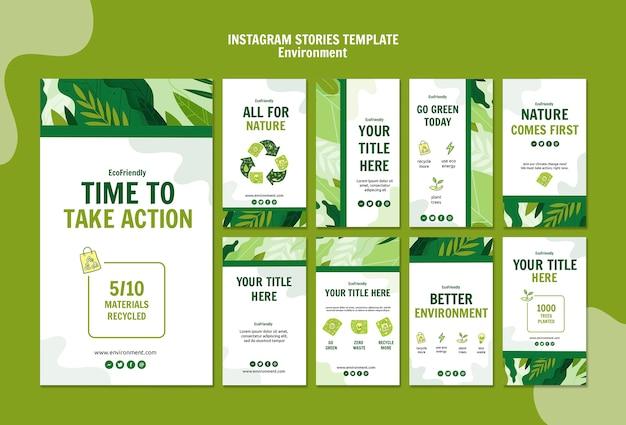 Modèle D'histoires Environnementales Instagram Psd gratuit