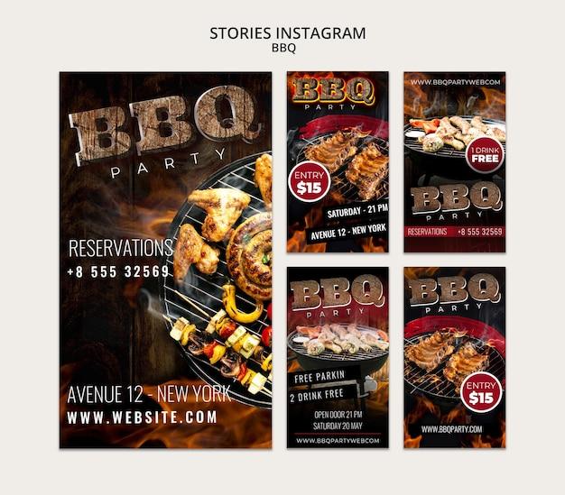 Modèle D'histoires Instagram Bbq Psd gratuit