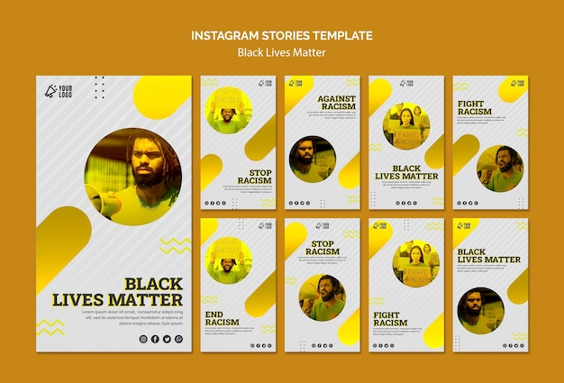 Modèle D'histoires Instagram De Black Lives Matters Psd gratuit