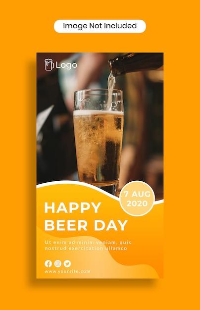 Modèle D'histoires D'instagram De Bonne Bière PSD Premium