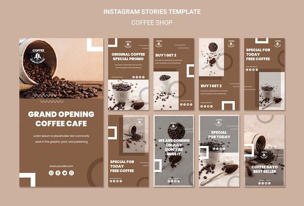Modèle D'histoires Instagram De Café Psd gratuit