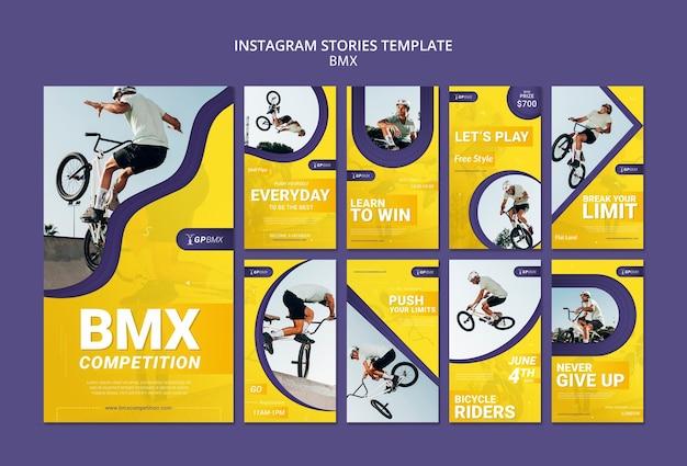 Modèle D'histoires Instagram De Concept Bmx Psd gratuit