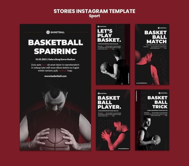 Modèle D'histoires Instagram De Concept De Sport PSD Premium