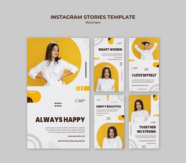 Modèle D'histoires Instagram De Conférence Sur Le Féminisme PSD Premium