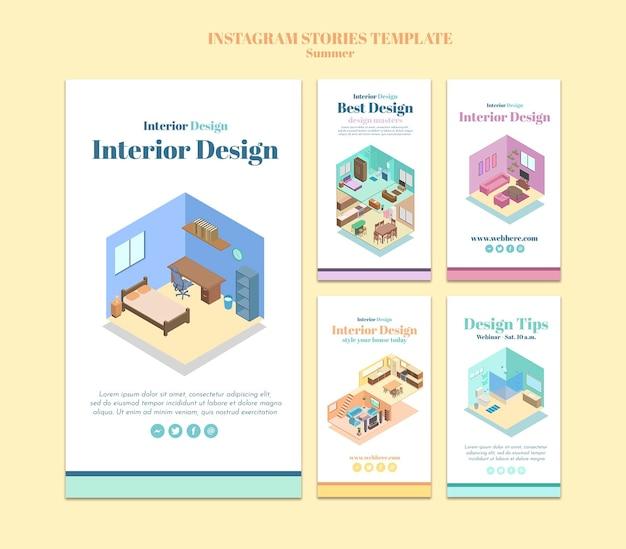 Modèle D'histoires Instagram De Design D'intérieur Psd gratuit