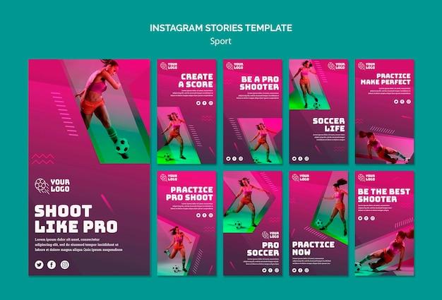 Modèle D'histoires Instagram D'entraînement De Football Psd gratuit