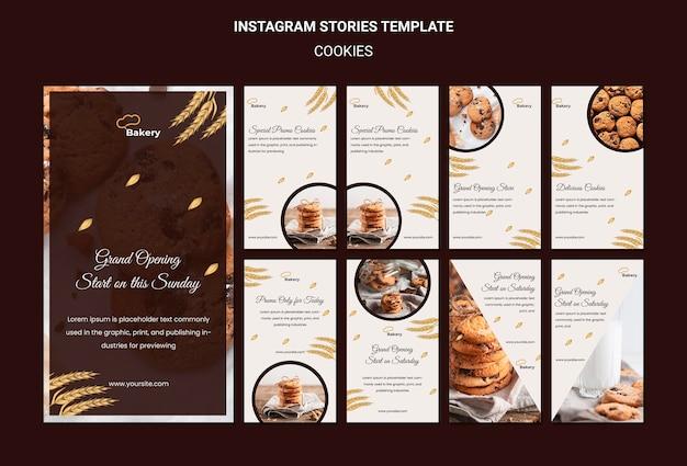 Modèle D'histoires Instagram De Magasin De Cookies PSD Premium