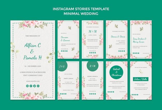 Modèle D'histoires Instagram Avec Mariage Psd gratuit
