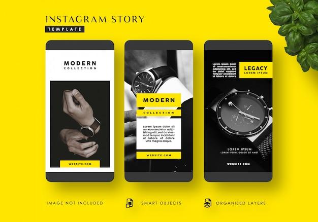 Modèle d'histoires instagram de mode moderne PSD Premium