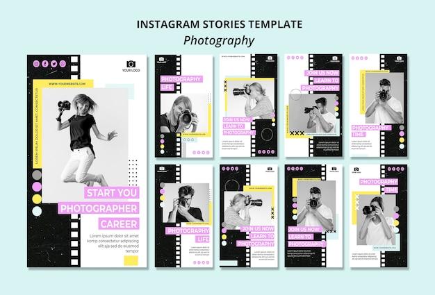Modèle D'histoires Instagram De Photographie Créative Psd gratuit