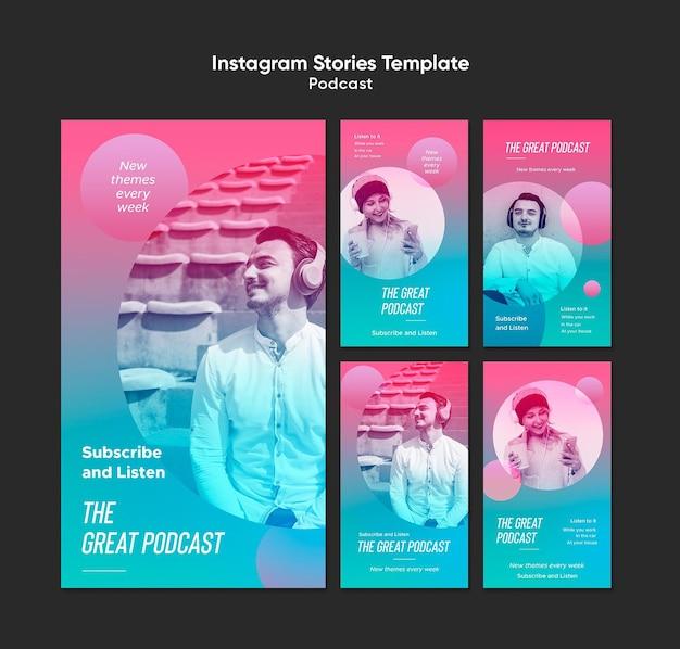 Modèle D'histoires Instagram De Podcast Radio PSD Premium