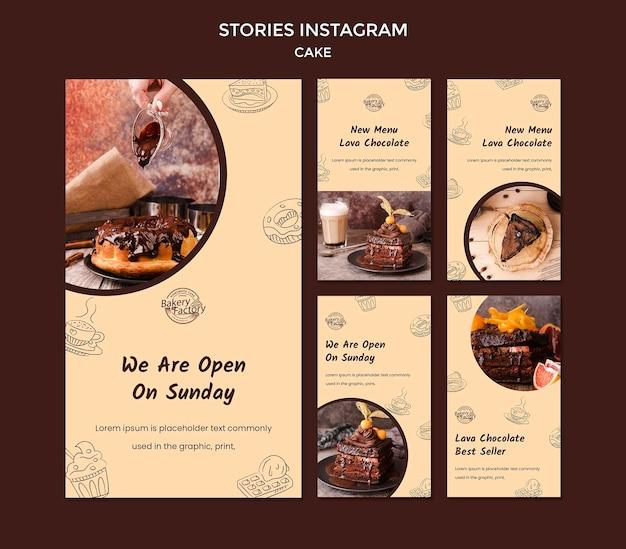 Modèle D'histoires Instagram Pour La Grande Ouverture De La Pâtisserie Psd gratuit