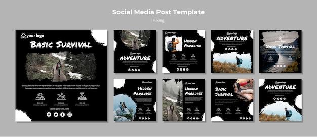 Modèle D'histoires Instagram Avec Randonnée Psd gratuit